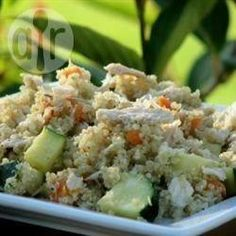 Quinoa salade met kip recept
