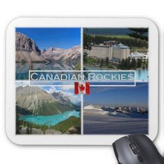 #CA Canada - Bow Lake - Banff National Park - Mouse Pad - #office #gifts #giftideas #business