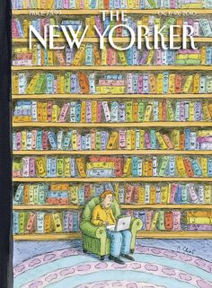 """The New Yorker cover: Oct. 18, 2010. """"Shelved"""" by Roz Chast."""
