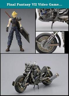Final Fantasy VII Video Game Action Figure Cloud on Hardy Daytona. Pack contenant la figurine de Cloud Strife et la moto Hardy Daytona. Figurine articulée taille env. 19 cm, moto longueur env. 32 cm. Cloud est livrée avec épée et mains interchangeables. Emballage boîte-vitrine.