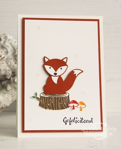 Stampin' Up! Stampin Up Foxy Friends Cards, Foxy Friends Punch, Cards For Friends, Stampin Up Cards, Inspiration Cards, Panda Party, Card Sketches, Woodland Animals, Stamping Up