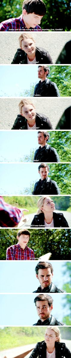 """Henry, Emma Swan and Killian Jones - 6 * 3 """"The Other Shoe"""" Once Upon A Time Funny, Once Up A Time, Captain Swan, Captain Hook, Series Movies, Film Movie, Captin America, Abc Shows, Hook And Emma"""