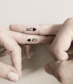 Poker Finger Tattoo Design.
