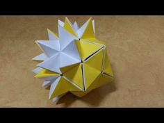 133 Origami 종이접기 (PopUp Star) 변신 다면체 60개, 30개 색종이접기 摺紙 折纸 оригами 折り紙 اوريغامي - YouTube