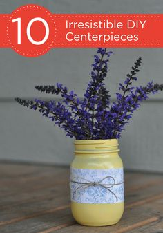 Add a sense of style to your backyard barbecue and decorate your tables with these 10 Irresistible DIY Centerpieces.