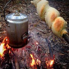 Backpacking camping. Gf dough