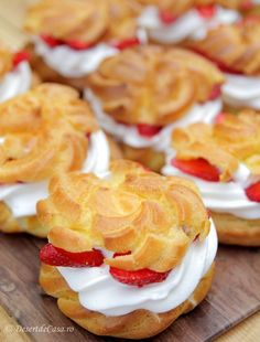 Creme, Biscuits, Cooking Recipes, Ice Cream, Sweets, Desert Rose, Cookies, Dining, Romania
