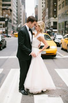 Classic NYC bride + groom: http://www.stylemepretty.com/new-york-weddings/new-york-city/2016/01/19/wedding-photographer-says-i-do-in-new-york-city/   Photography: Katie Kett - http://katiekettphotography.com/