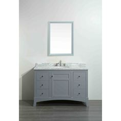 Eviva New York Grey Wood Marble 42-inch Bathroom Vanity