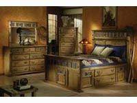 Bebe Furniture Country Heirloom Four Post Rake Suite Bedroom Set ...