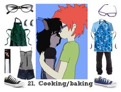 """""""21. Cooking/baking (Sheckie)"""" by brainyxbat ❤ liked on Polyvore featuring Elizabeth and James, Hostess, Abercrombie & Fitch, Converse, claire's and Columbia"""