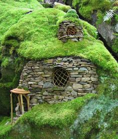 Emerald Moss House by Sally Smith of Green Spirit Arts. See more of her work at Artsy Shark.