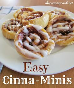 Easy Cinna-Minis - for breakfast or a snack    from The Country Cook