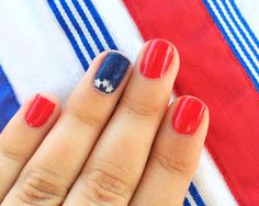 Keep things simple with an accent nail.