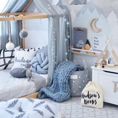"2,661 Likes, 146 Comments - A L I C I A  (@hudson_and_harlow) on Instagram: ""Lots of new gorgeous products in Hudson's room  _ Bobble basket @lilypilybaby  Teepee shelf…"""