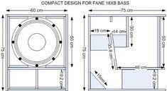 Best SPL acoustic box for FANE colossus - Spe. - Akustik ve Ses Yalıtımı Best Subwoofer, Subwoofer Box Design, Speaker Box Design, Sub Box, Music Speakers, Cabinet Plans, Acoustic Panels, Home Cinemas, Diy Wood Projects