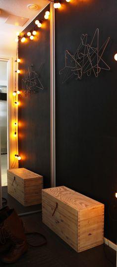 entrance chalkboard wall