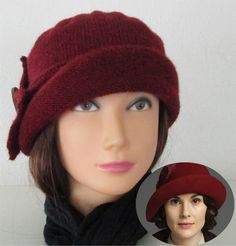 Knitting Pattern for Lady Mary Cloche Hat - Swan Avenue designed this hat inspired by one worn by Lady Mary on Downton Abbey.