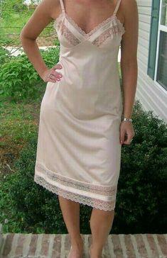 Slip Dresses, Lingerie Drawer, Satin Slip, Pretty Lingerie, Ladies Slips, Night Gown, Women Lingerie, Underwear, White Dress