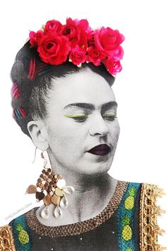 Decorate a Frida Kahlo's Portrait in 3D (Como decorar una fotocopia de Frida Kahlo en 3D) | Live Colorful