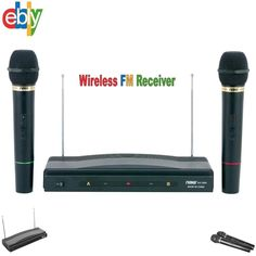 Details about  Wireless Cordless 2 Mics included Dual Mic Microphone System Aud #NaxaElectronics