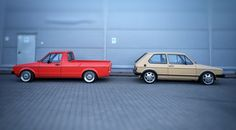 Beige VW Golf mk1