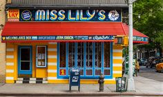 Miss Lily's in New York City's East Village signage by FarewellNY.com