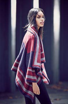 Burberry Brit Wool Blend Blanket Wrap   Nordstrom