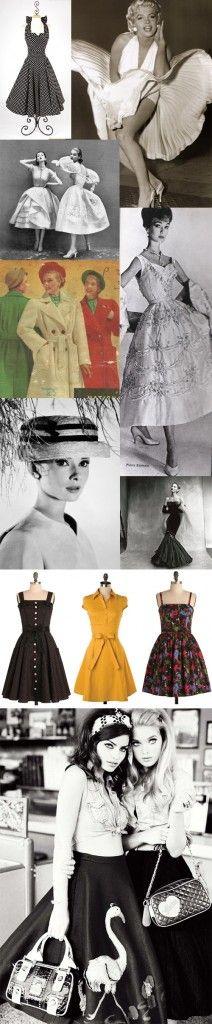 """Moda anos 50 com toque de """"Nuit Blanche""""                                                                                                                                                      Mais"""