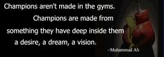 An inspirational Muhammad Ali sports quote for sharing.