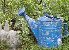 Fabulous Fun Blue Vintage Watering Can