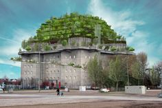 """From War Relic to Mixed-Use: Plans to Build a """"Green Mountain"""" Atop a Bunker in Hamburg"""