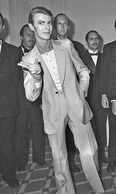 David Bowie, Cannes Film Festival, Circa 78