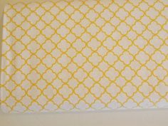 QT  Special Delivery  golden  yellow on white by VistrasBoutique, $9.75
