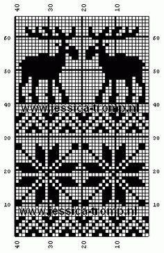 Discover thousands of images about free crochet filet patterns gratis filet haken haakpatronen Fair Isle Knitting Patterns, Knitting Charts, Knitting Stitches, Knitting Designs, Knitting Projects, Knitting Kits, Filet Crochet, Crochet Chart, Crochet Patterns