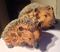 Resin Hedgehogs Statue Figurine Model Garden Decor Ornament Indoor Outdoor