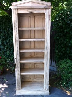 Bookshelf made using salvaged doors & mouldings - Repurposed Furniture | Jim Cardon Customs