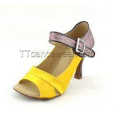 http://www.ttdancewear.com/latin-salsa-shoes/Free-Shipping-Wholesale-Yellow-Satin-Glitter-Salsa-Dancing-Shoes