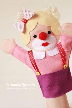 Glove Puppets, Felt Puppets, Puppets For Kids, Felt Finger Puppets, Hand Puppets, Baby Girl Patterns, Felt Patterns, Felt Garland, Felt Ornaments