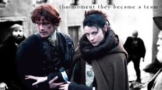 The Moment they became a team. Jamie and Claire #Outlander