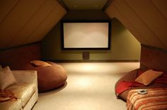 Cool Homes Tight Attic Space Transformed Into Theater By