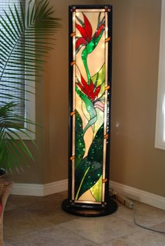 Stained Glass Floor Lamp love this idea Stained Glass Floor Lamp, Stained Glass Light, Tiffany Stained Glass, Stained Glass Flowers, Stained Glass Designs, Stained Glass Panels, Stained Glass Projects, Stained Glass Patterns, Mosaic Glass