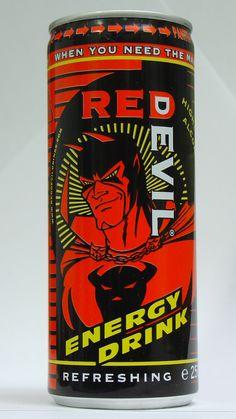 Red Devil energy drink with vodka = memories of bermuda