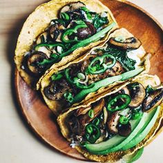Brown Rice And Mushroom Tacos With Kale And Avocado via @feedfeed on https://thefeedfeed.com/brooklynsupper/brown-rice-and-mushroom-tacos-with-kale-and-avocado