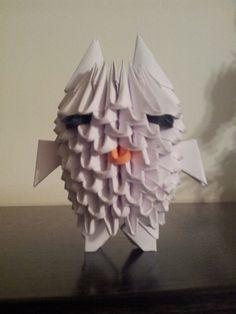 ORIGAMI 3D. Blanco, sus piezas son de 6x4.