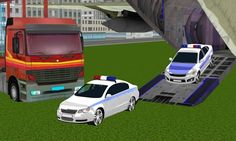 get your cars aboard and deliver your package on time. police car and trucks and vehicles!