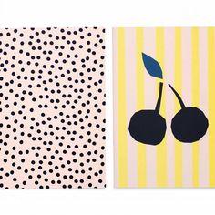 Dotty - Set van 2 blanco teken-/notitieboeken van Darling Clementine