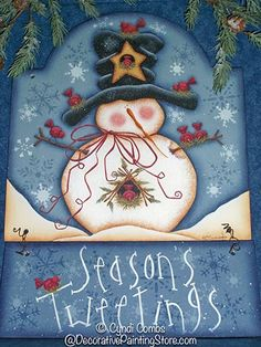snowman tole paintings free | The Decorative Painting Store: , e-Patterns