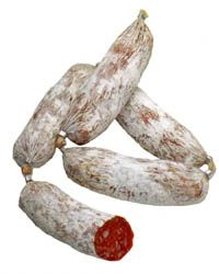 cacciatorini salumi.  I use to eat this with some cheese and bread and a glass of red wine.  Heaven.