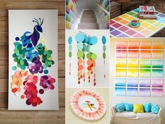 20 Cheerful Paint Chip Projects to Try for Your Home - http://www.amazinginteriordesign.com/20-cheerful-paint-chip-projects-to-try-for-your-home/